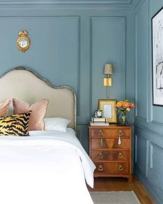 One Room Challenge The Reveal: A Modern Traditional Master Bedroom A Glass of Bovino Master Bedroom Makeover, Bedroom Makeovers, Blue Rooms, Quality Furniture, Furniture Online, Furniture Outlet, Discount Furniture, Home Decor Trends, My New Room