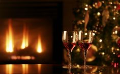 View Tree Christmas Fireplace Merry Christmas HD Wallpaper