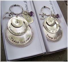 Wedding Party GIFTS Personalized Key Chain MOTHER of the BRIDE Keyring Stamped Metal Custom Groom. $38.00, via Etsy.