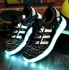 Men's Shoes Adults Led Usb Charging Glowing Sneakers Hook Loop Footwear Unisex Fashion Luminous Casual Shoes For Men Women Dancing Shoes Perfect In Workmanship