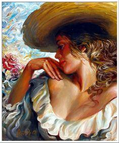 sait of artist Montage Photo, Professional Painters, Art Academy, Woman Painting, New Artists, Portrait Art, Portraits, Beautiful Paintings, Figurative Art
