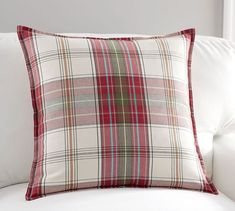 Charles Plaid Pillow Cover | Pottery Barn