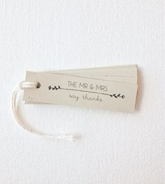 Wedding favor tags - mr and mrs tags bridal shower gift tags wedding me and mrs favor tags