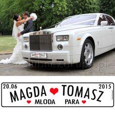 Piękna, oryginalna, zaskakująca! Tablica personalizowana do samochodu będzie wspaniałym elementem dekoracyjnym, który zachwyci wszystkich gości! #kolekcjaslubna #slub #wesele #dekoracjeslubne #podziekowaniadlagosci #ślub #wedding #wesele #love #slub #pannamloda  #bride #slubnaglowie #pannamłoda #miłość #weddingday #sesjaslubna #weddinginspiration #slubneinspiracje Wedding Decorations, Sweet Hearts, Weddings, Wedding, Wedding Decor, Marriage