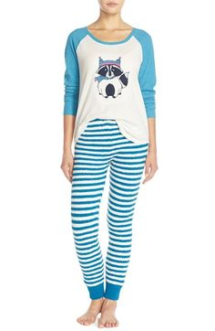 Make + Model 'Cabin Friends' Pajama Set available at #Nordstrom #TealTurkishRaccoon #Pajamas