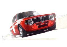 "365randomness: ""Alfa Romeo Giulia Sprint GTA By Jochen Paesen "" Alfa Romeo Giulia Sprint GTA"