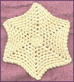 Star Dishcloth - must do! Crochet Kitchen, Crochet Home, Knit Or Crochet, Crochet Granny, Crochet Crafts, Crochet Projects, Free Crochet, Crochet Star Patterns, Crochet Stars