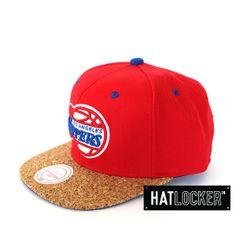 LA Clippers Cork Visor Snapback by Mitchell & Ness   www.hatlocker.com #la #clippers #snapback #nba