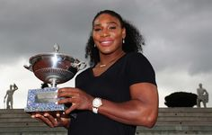 Serena Williams Photos - Serana Williams of the United States pictured with the trophy after winning against Madison Keys of the United States during the Womens Singles Finalduring day eight of The Internazionali BNL d'Italia 2016 on May 15, 2016 in Rome, Italy. - The Internazionali BNL d'Italia 2016 - Day Eight