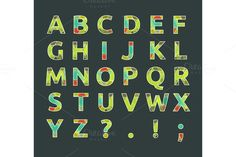 Check out Creative spectral alphabet by robuart on Creative Market