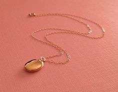 Tiny Gold Locket  -Gold Oval Locket -Gold Fill Not Plated -Lovely Valentine Gift on Etsy, $40.00
