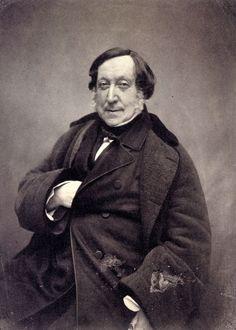 Ritratto di Gioacchino Rossini, 1856, fotografia, Nadar.