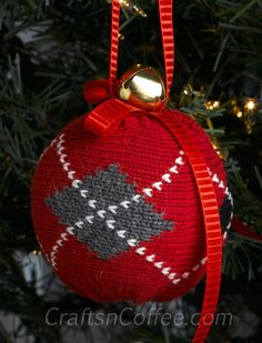DIY Ornaments from old sweaters
