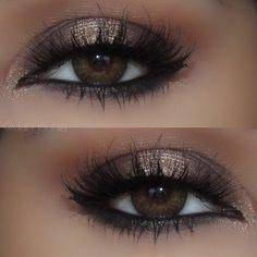 Bronzed Goddess! MUA: dangsonia created her look featuring her MakeupbyMandy24 Eyeshadow Palette. Moura Ibrahim