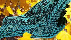 Rise from the Ashes - Phoenix Shawl Mystery KAL pattern by Tania Richter