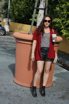 leather shorts, In This Fashion