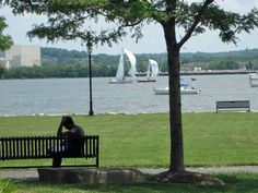 The Potomac River and Old Town in Alexandria, VA