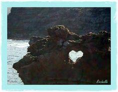 Heart shape in rock.