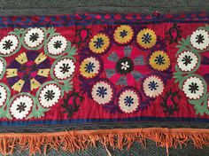 Vintage Embroidered Curtain Valance Indian by GypsysClosetVintage