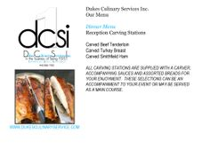 Our menu  offers turkey for all occasions.  Juicy, crisp skin, oh so yummy! www.dukesculinaryservice.com