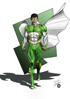 My Original Charater CAPTAIN GAMMA ORIGIN Lieutenant Zuberi Abiome, a member of the United Earth Federation special forces was bombarded by transphasic energy waves caused by an explodi. Comic Art, Character Design, Character Art, Character Inspiration, Superhero Design, Black Anime Characters, Black Comics, Art, Superhero Art
