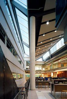 Interior of daniel libeskind 39 s grand canal square theatre for Interior design agency dublin