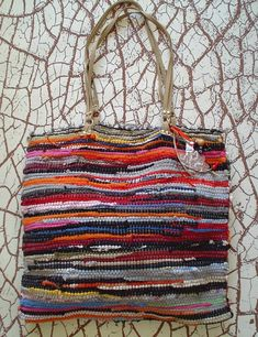 rag bag  a great #diy idea  could be heavy to carry and hard to sew, but i like it.