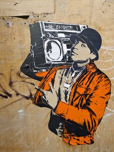 .Anyone know who rhe artist is? Looks like a Banksy.