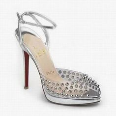 Christian Louboutin Jeannette Spiked Sandals Silver