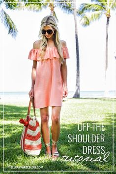 OFF THE SHOULDER DRESS TUTORIAL | Elle Apparel by Leanne Barlow