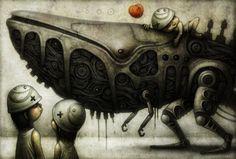 Shichigoro es un artista japonés quien crea seres biomecánicos capaces de convivir en una tranquila armonía.