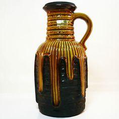 Carstens Keramik Vase • West German Pottery • original Label • Perfekter Zustand