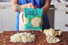 How to make the creamiest mashed cauliflower - pre-riced cauliflower, use the boiling liquid & immersion blender.