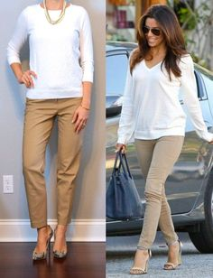Inspiration – Eva Longoria  Secret: While I mostly don't let this website affect what I wear – sometimes I put on the exact same jewelry two days (or more) in a row just so I don't have to look up new
