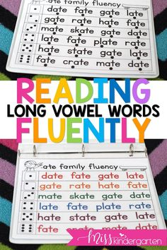 Kindergarten and first-grade students can practice their long vowel fluency with these printable readers! They're perfect for literacy centers, intervention, and small groups! Struggling readers will be proud of themselves for reading the words faster and faster each time! #readingisfun