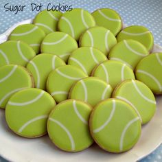 Sugar Dot Cookies: Tennis Ball Cookies