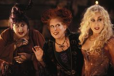 The 1993 Disney comedy Hocus Pocus, starring Bette Midler and Sarah Jessica Parker, has had a shockingly successful afterlife on Freeform every Halloween. Halloween 2018, 31 Nights Of Halloween, Halloween Movies, Halloween Town, Happy Halloween, Halloween Ideas, Halloween Queen, Halloween Season, Halloween Horror