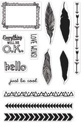 *Hero Arts Clear Stamps FRAME & FEATHERS 2013 Studio Calico Sundrifter 331480
