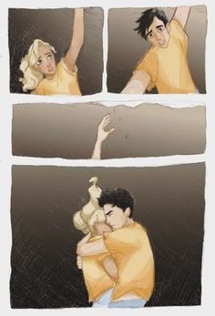 Annabeth and Percy Percy Jackson Ships, Percy Jackson Quotes, Percy Jackson Fan Art, Percy Jackson Books, Percy Jackson Fandom, Percy And Annabeth, Annabeth Chase, Robert Plant Led Zeppelin, Magnus Chase