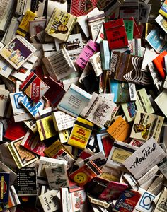 Matchbooks…I still have a collection from my childhood