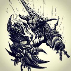 VaatiVidya - Words can light fires • devlinart:     Smelter Demon from Dark Souls 2...