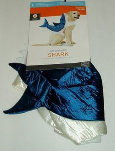 Blue & White Shark Fish Dog Pet Halloween Costume « Pet Advertisings