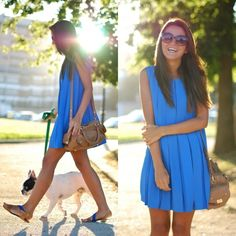 Blue dress...I Love this color!!