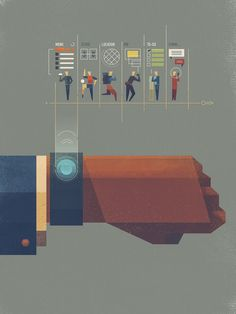 Wearables illustration by Dan Matutina by by , Wed, 09 Jul 2014 05:39:30 -0700 via http://inspirationbrowser.com