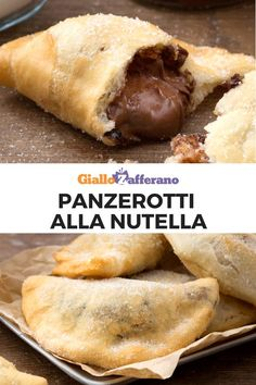 Nutella panzerotti are fried and super-tasty bundles that contain a truly delicious filling. Discover the recipe for preparing these delicious cakes at your home! The post Nutella Panzerotti appeared first on Food Monster. Nutella Snacks, Nutella Recipes, Bread Recipes, Delicious Desserts, Dessert Recipes, Yummy Food, Sweet Desserts, Panzerotti Recipe, Crispy Oven Fried Chicken