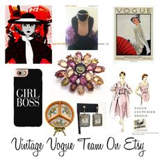 """""""Vogue Girl Boss"""" by martinimermaid on Polyvore featuring Casetify, WALL and vintage"""