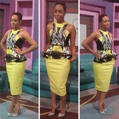 Today on WDN Stylespiration, we are featuring the lovely and trendy styles of Pokello Nare of Big Brother Africa Pokello is known for her love for fashion and she… African Traditional Dresses, Traditional Outfits, African Print Dresses, African Dress, African Attire, African Wear, Ghanaian Fashion, African Fashion, Style Africain