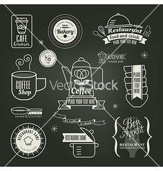 Vintage retro restaurant cafe logo design vector by kraphix on VectorStock®