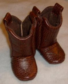 Baby Cowboy Boots Medium Brown Leather by 2Fab on Etsy
