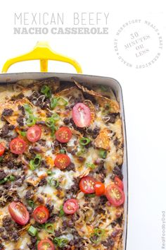 30-Minute Weeknight Meal: Beefy Nacho Casserole